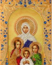 А-строчка | Святые мученицы Вера,Надежда,Любовь и мать их София. Размер - 19 х 25 см