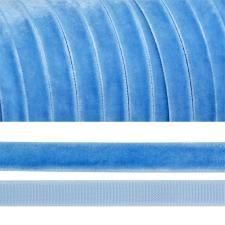 Лента бархатная арт.TBY.LB1083 нейлон шир.10 мм цв.голубой