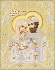 Маричка   Пётр и Феврония (золото). Размер - 18 х 23 см