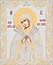"""Маричка   Икона Божией Матери """"Умягчение злых сердец"""" (серебро). Размер - 26 х 32 см"""
