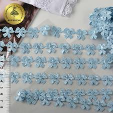 Кружево гипюр бантики арт.TR.12246A шир.15мм цв.09 голубой
