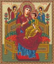 Русская искусница | Богородица Всецарица. Размер - 27 х 32,2 см