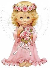 Шёлковый сад | Розовый ангел. Размер - 14 х 19 см