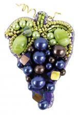 """Набор для изготовления броши Crystal Art """"Виноград"""". Размер - 4,5 х 6,5 см"""