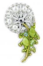 """Набор для изготовления броши Crystal Art """"Одуванчик"""". Размер - 6,5 х 5,5 см"""