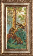 Русская искусница | Три медведя (по мотивам картины И.И.Шишкина фрагмент).Размер - 13 х 26 см
