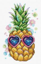 """ТМ Жар-птица Набор для вышивания на одежде """"Солнечный ананас"""". Размер - 9 х 15 см."""