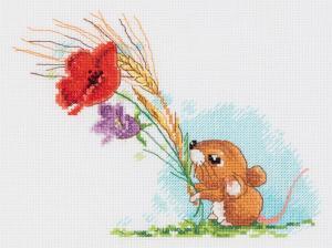 """Набор для вышивания Кларт """"Полевая мышка"""". Размер - 19 х 15,5 см"""