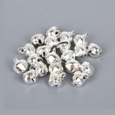 Бубенчики для декора цв.серебро,100 шт.
