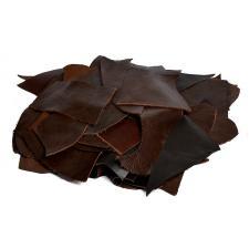 Лоскут кожевенный.Натуральная кожа арт.LC-01 толщина 0,5-2 мм цвет коричневый уп.1кг