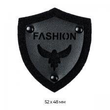 Аппликация пришивная арт.TBY.SHS1022 FASHION BLACK 5,2х4,8см