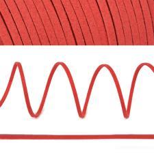Шнур/тесьма (искусственная замша) TBY.SLR162 2-3мм цв.красный F162