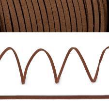 Шнур/тесьма (искусственная замша) TBY.SLR300 2-3мм цв.коричневый F300