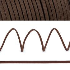 Шнур/тесьма (искусственная замша) TBY.SLR304 2-3мм цв.кофе F304