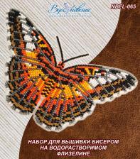 """ТМ Вдохновение   Набор для вышивки бисером на одежде """"Бабочка """"Партенос Сильвия"""""""""""