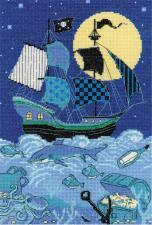Риолис | Пиратский корабль. Размер - 21 х 30 см
