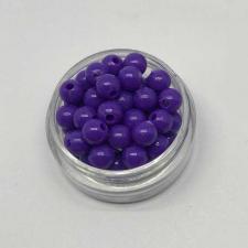 Бусины пластиковые круглые,цвет 05 (фиолетовый),6 мм,уп.80 шт