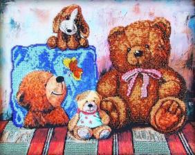 Астрея Арт | Плюшевые медведи 1. Размер - 40 х 32 см