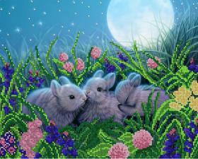 Лунные кролики. Размер - 32 х 26 см.