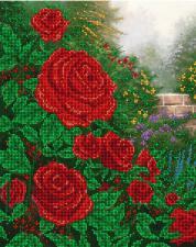 Красные розы. Размер - 32 х 26 см.