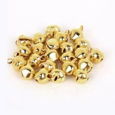 Бубенчики для декора цв.золото,100 шт.