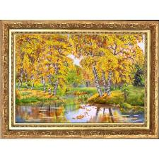 "Конёк | Рисунок на ткани ""Осенний день"". Размер - 39 х 29 см"