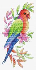 """ТМ Жар-птица Набор для вышивания на одежде """"Попугай"""". Размер - 9 х 19 см"""