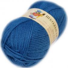 Пехорка | Пряжа Школьная (100% акрил) 50г/150м цв.015 тёмно-голубой