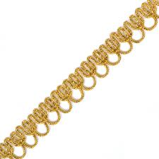 Тесьма отделочная двусторонняя арт.9600 шир.12 мм цв.золото