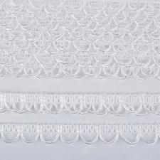 Тесьма отделочная с петлями UU шир.18-19мм цвет 101 белый