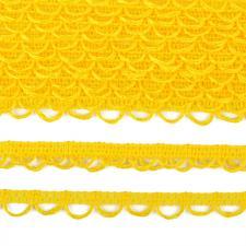 Тесьма отделочная с петлями UU шир.18-19мм цвет 109 жёлтый