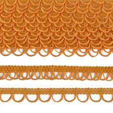 Тесьма отделочная с петлями UU шир.18-19мм цвет 122 тёмно-жёлтый