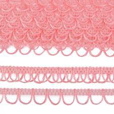 Тесьма отделочная с петлями UU шир.18-19мм цвет 135 розовый