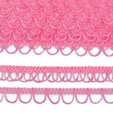 Тесьма отделочная с петлями UU шир.18-19мм цвет 139 (R015) ярко-розовый