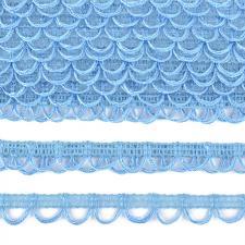 Тесьма отделочная с петлями UU шир.18-19мм цвет 177 светло-голубой