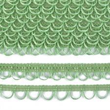 Тесьма отделочная с петлями UU шир.18-19мм цвет 223 салатовый