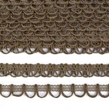 Тесьма отделочная с петлями UU шир.18-19мм цвет 256 болотный
