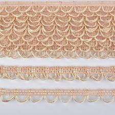 Тесьма отделочная с петлями UU шир.18-19мм цвет 296 бледно-кремовый