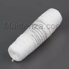 Нить крученая для швейных производств ТУ206262 цвет белый,диаметр 2 мм,вес 100 г