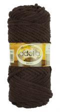 Пряжа Adelia MIMI (100% полиэстер) 100г/80м цв.12 коричневый