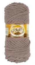 Пряжа Adelia MIMI (100% полиэстер) 100г/80м цв.14 серо-коричневый