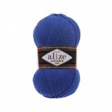 Пряжа для вязания Ализе LanaGold Fine (49% шерсть, 51% акрил) 100г/390м цв.141 василёк