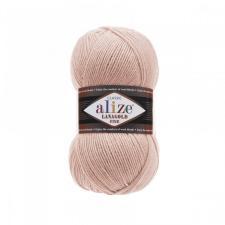 Пряжа для вязания Ализе LanaGold Fine (49% шерсть, 51% акрил) 100г/390м цв.161 пудра