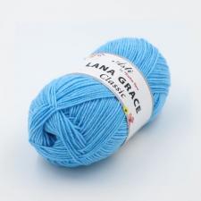 Троицкая пряжа | LANA GRACE Classic (25% мериносовая шерсть 75% акрил супер софт) 100г/300м цв.0300 светло-голубой