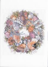 Схема для вышивки Janlynn 023-0359 Seashell Wreath
