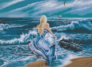 Схема для вышивки Бегущая по волнам