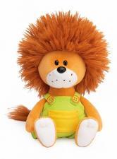 Львёнок Лью в комбинезоне с жёлтыми пуговицами, мягкая игрушка Budi Basa. Размер - 15 см