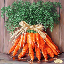Тэла Артис | Букет моркови. Размер - 30 х 30 см