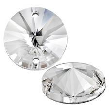 Zlatka | ZSS-01 Стразы круглые пришивные, стекло, цвет Crystal, 10 мм, уп.8 шт