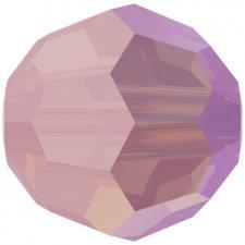 """Бусина стеклянная гранёная """"Сваровски"""" 5000 Shimmer цвет нежно-розовый (rose water 395 SHIM)"""